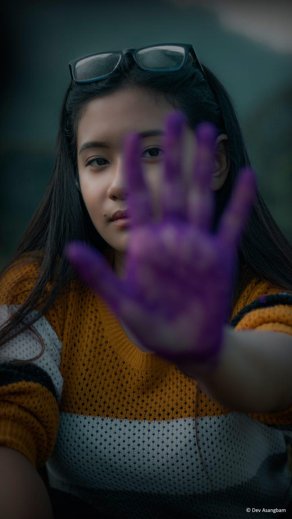 Girl Photography Hand Purple Color 4K Ultra HD Mobile Wallpaper