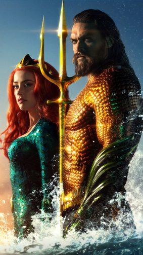 Jason Momoa & Amber Heard In Aquaman 4K Ultra HD Mobile Wallpaper