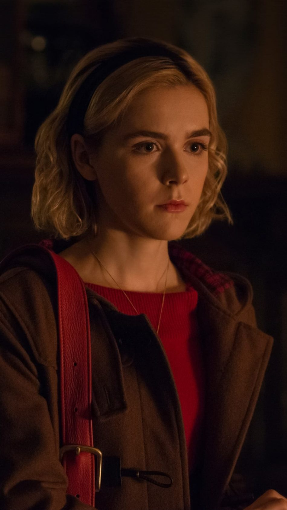 Kiernan Shipka In The Chilling Adventures of Sabrina 4K Ultra HD Mobile Wallpaper