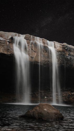 Waterfall Meghalaya Photography 4K Ultra HD Mobile Wallpaper