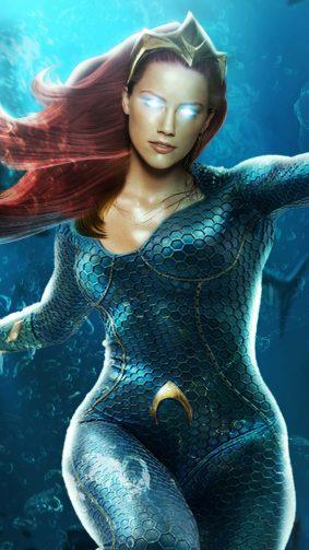 Amber Heard Mera Aquaman 2019 4K Ultra HD Mobile Wallpaper