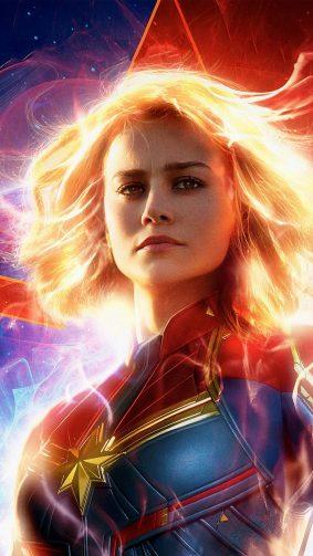 Brie Larson In & As Captain Marvel 2019 4K Ultra HD Mobile Wallpaper