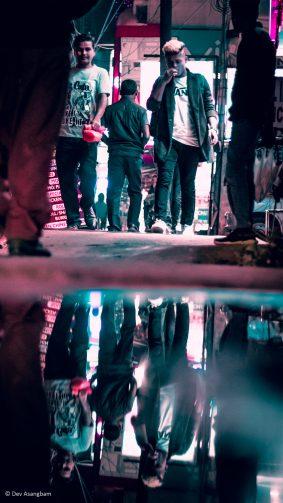 City Street Neon Reflection Photography 4K Ultra HD Mobile Wallpaper