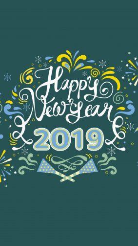 Happy New Year 2019 4K Ultra HD Mobile Wallpaper