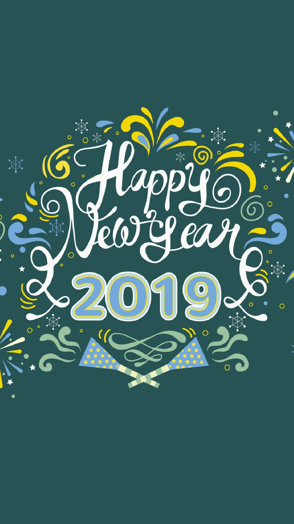 Happy New Year 2019 4K Ultra HD Mobile Wallpaper