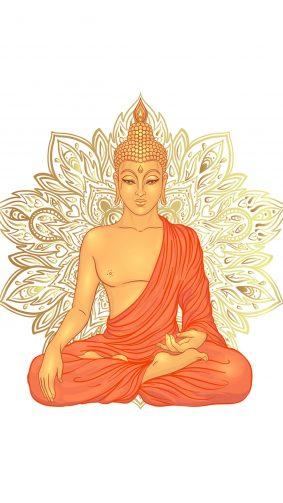 Lord Buddha Art 4K Ultra HD Mobile Wallpaper