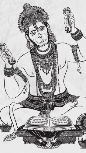 Lord Hanuman Art 4K Ultra HD Mobile Wallpaper