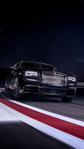 Rolls Royce Black Badge Wraith On Race Track 4K Ultra HD Mobile Wallpaper
