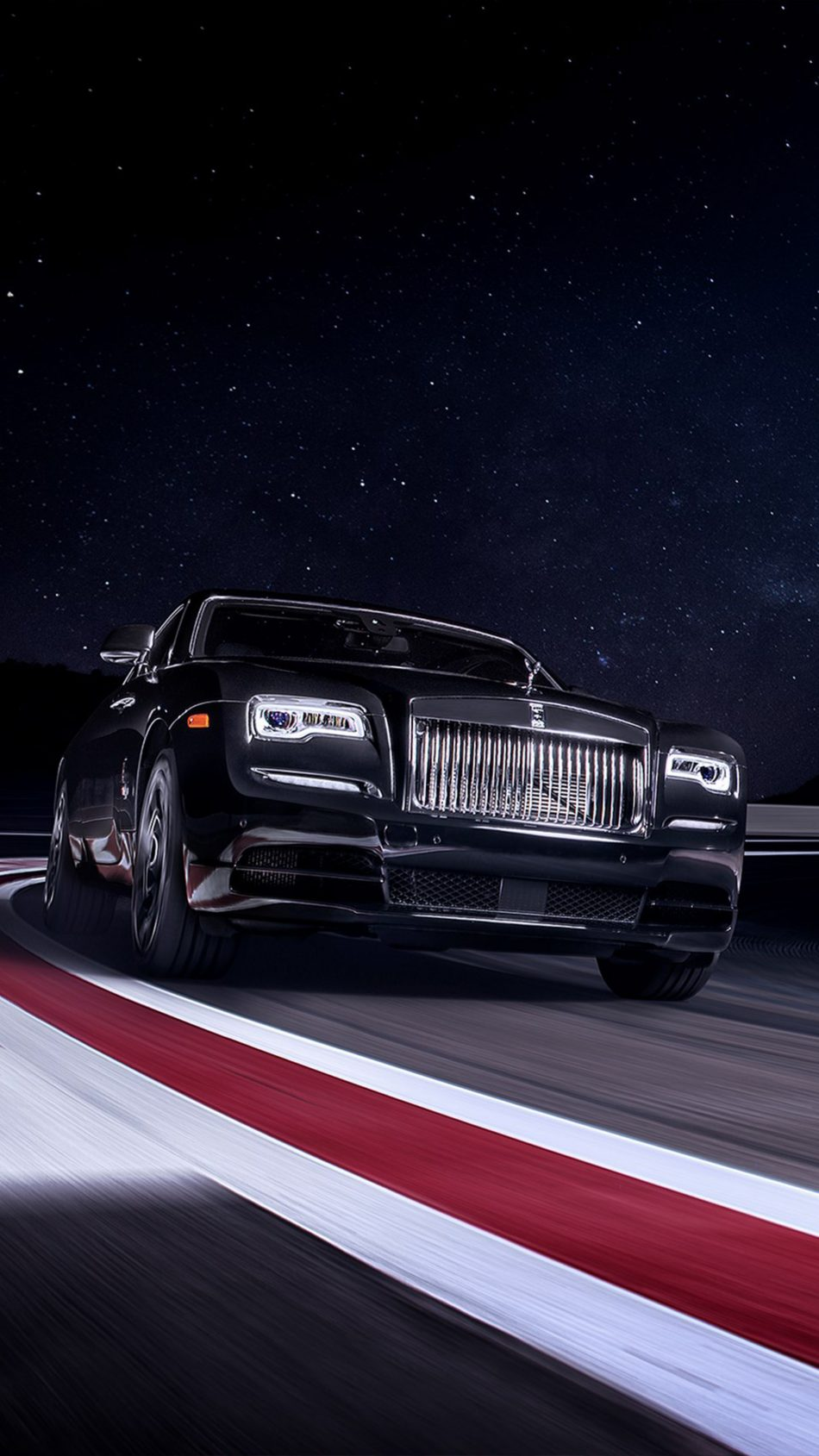 Rolls Royce Black Badge Wraith On Race Track 4k Ultra Hd Mobile Wallpaper