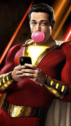 Zachary Levi In Shazam! Comics 2019 4K Ultra HD Mobile Wallpaper