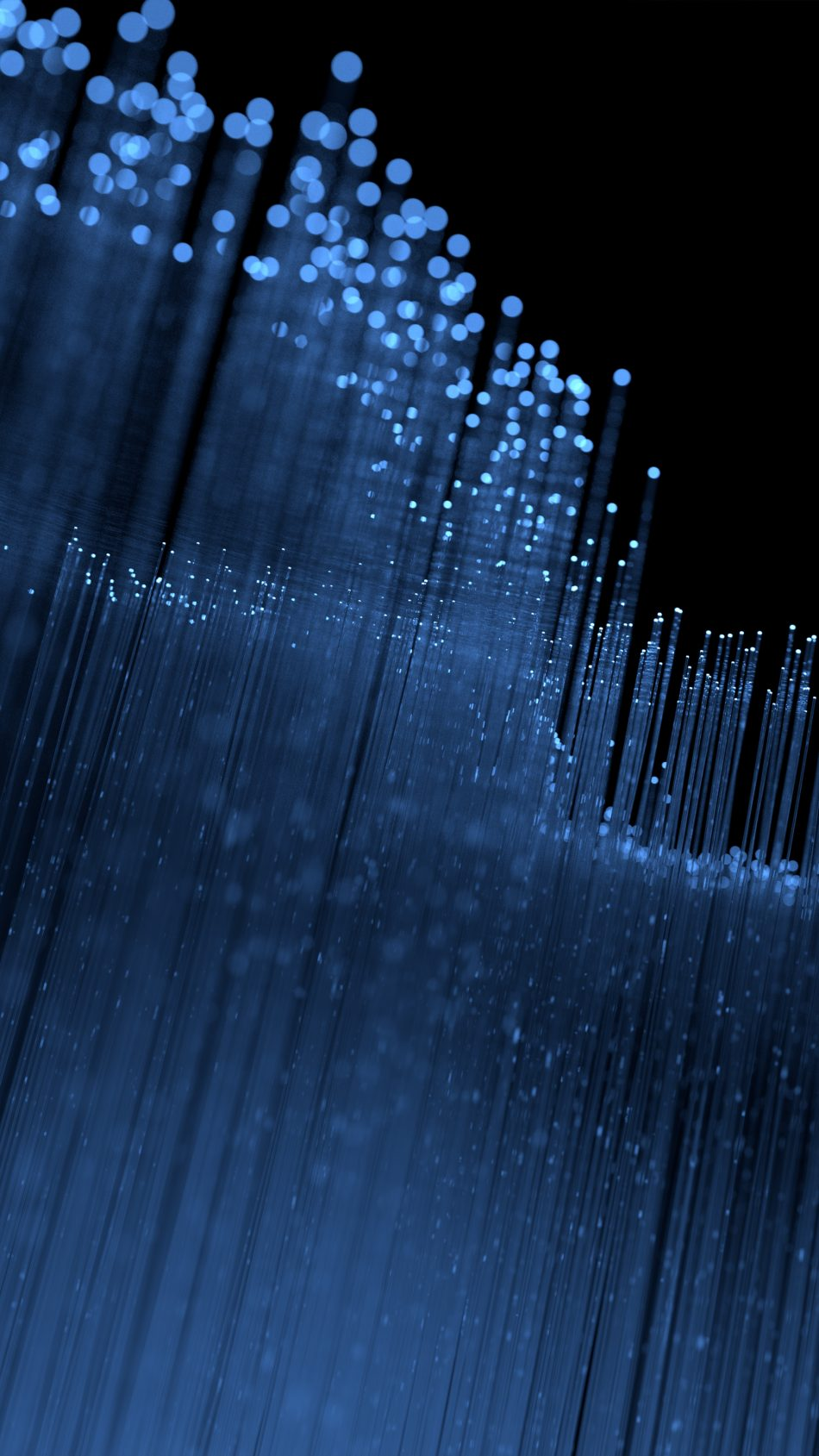 Blue Particles Fedora 28 Stock 4K Ultra HD Mobile Wallpaper
