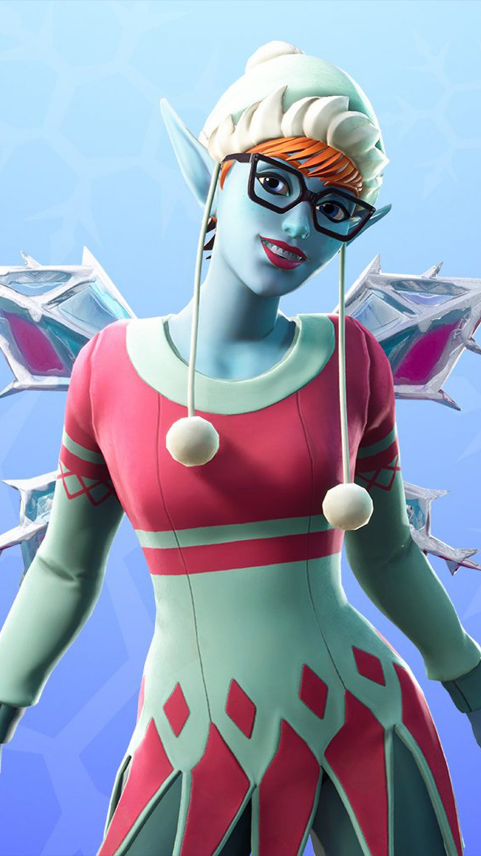 Fortnite Sugarplum Outfit 4K Ultra HD Mobile Wallpaper