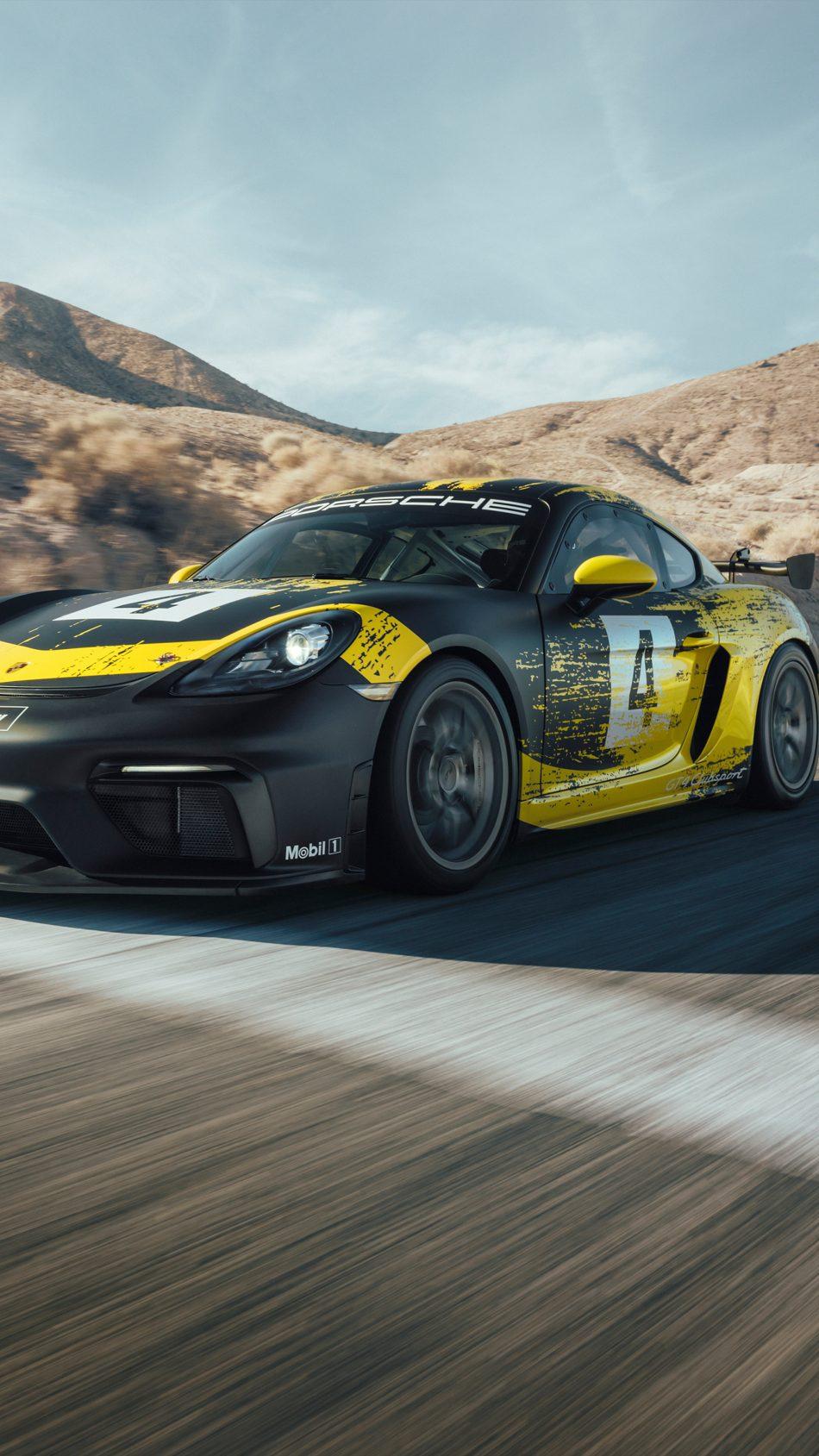 Porsche 718 Cayman GT4 Clubsport 4K Ultra HD Mobile Wallpaper
