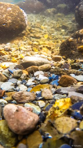 River Stones Under Water Photo Click 4K Ultra HD Mobile Wallpaper