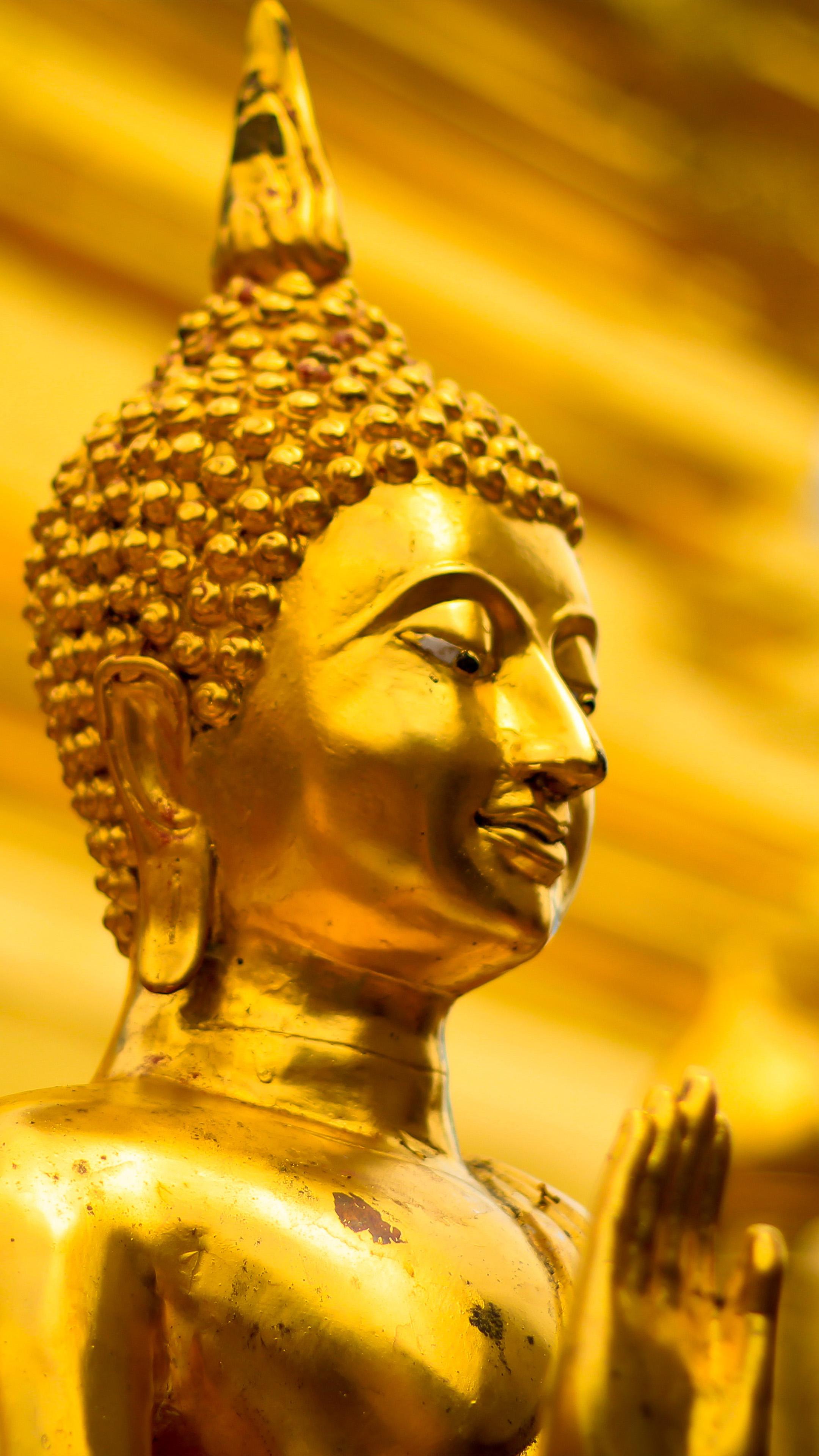 Golden Gautama Buddha Statue Thailand 4K Ultra HD Mobile ...