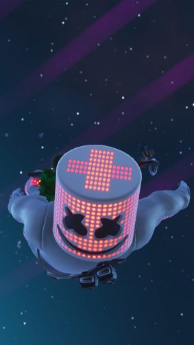 Marshmello In Air Fortnite 4K Ultra HD Mobile Wallpaper