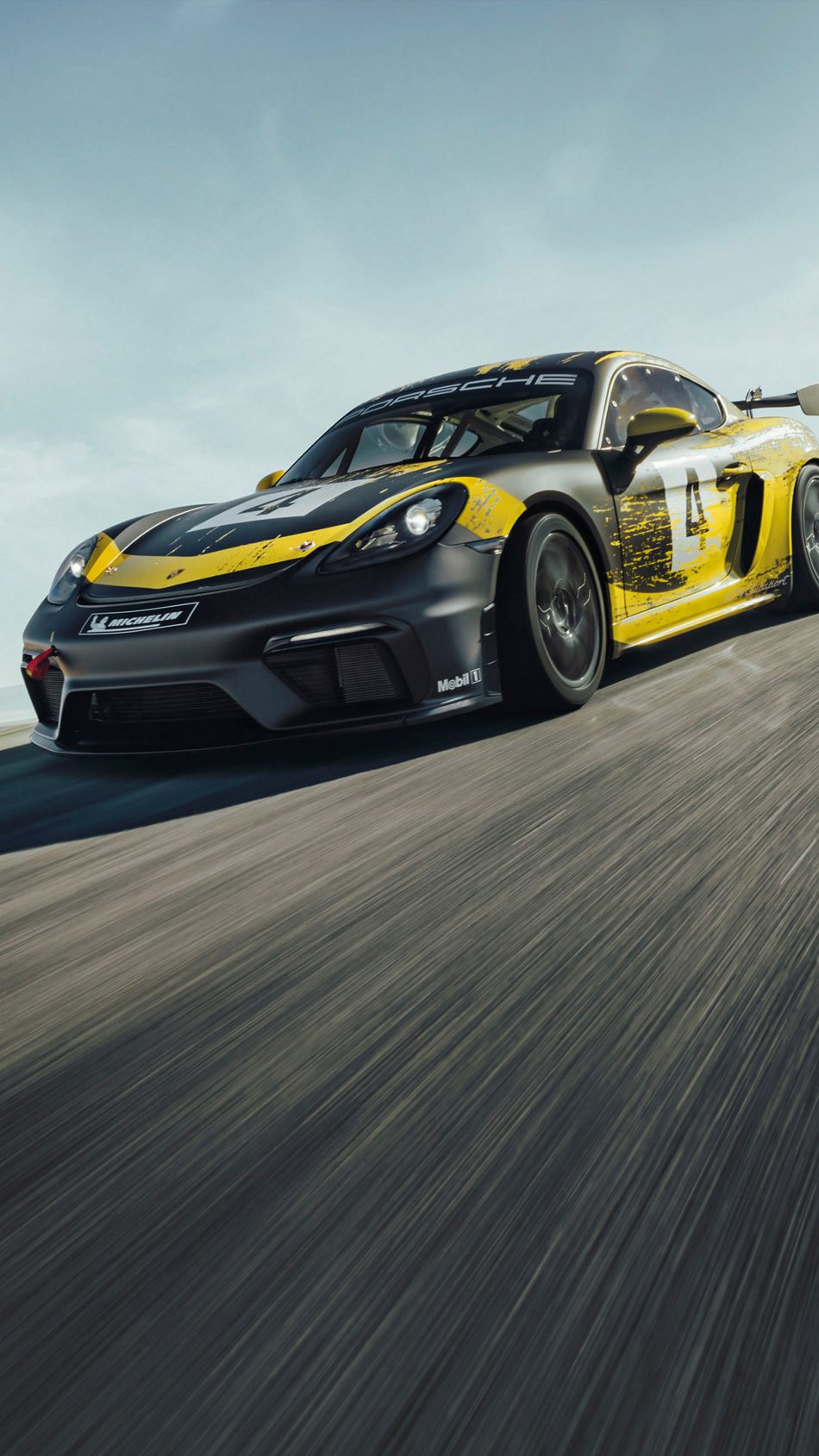 Porsche 718 Cayman GT4 4K Ultra HD Mobile Wallpaper