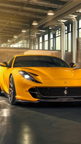 Yellow Ferrari 812 Superfast 2019 4K Ultra HD Mobile Wallpaper