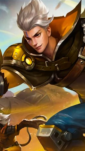 Claude Golden Bullet Mobile Legends 4K Ultra HD Mobile Wallpaper