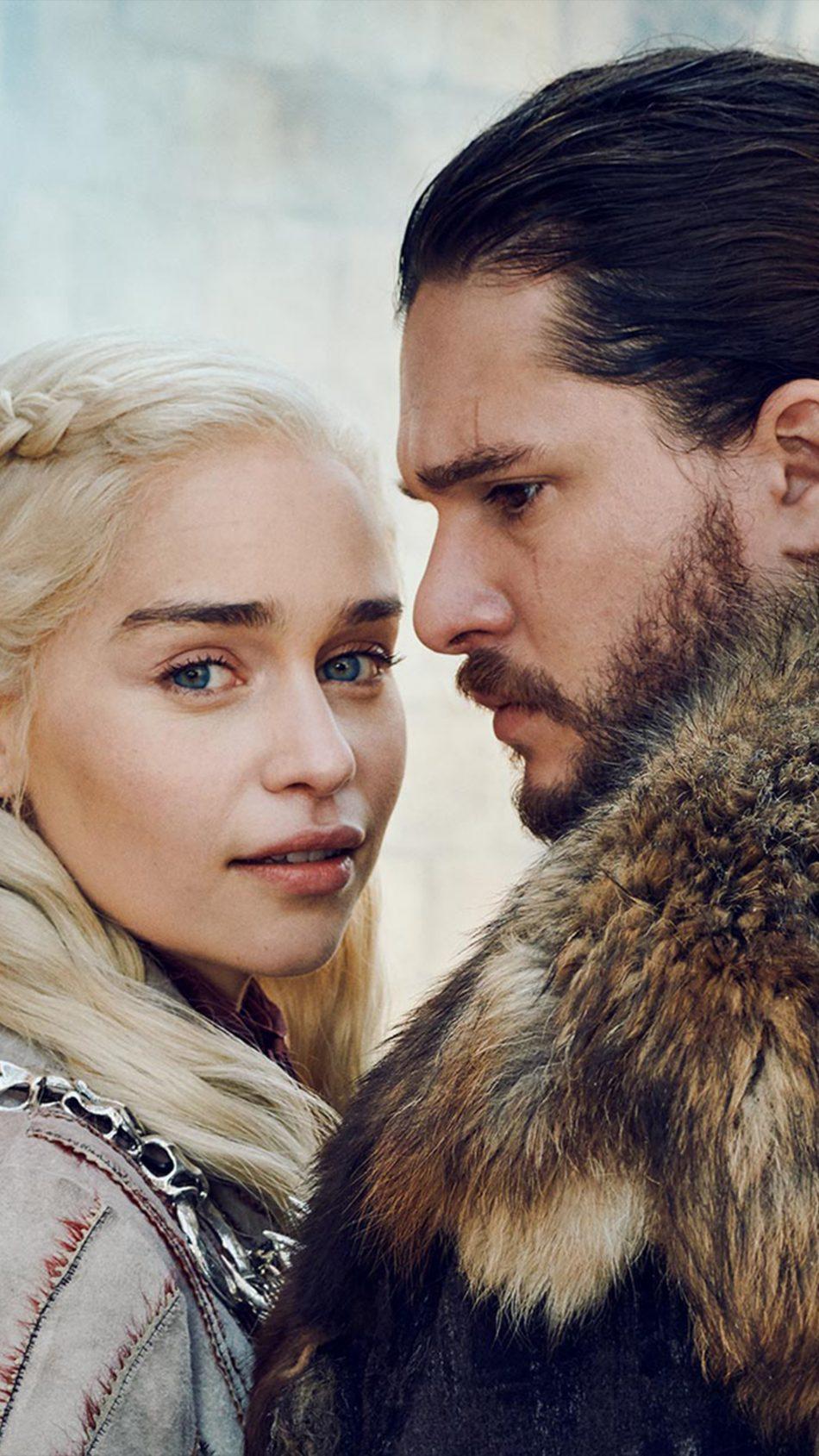 Daenerys Targaryen & Jon Snow Game of Thrones S8 4K Ultra HD Mobile Wallpaper