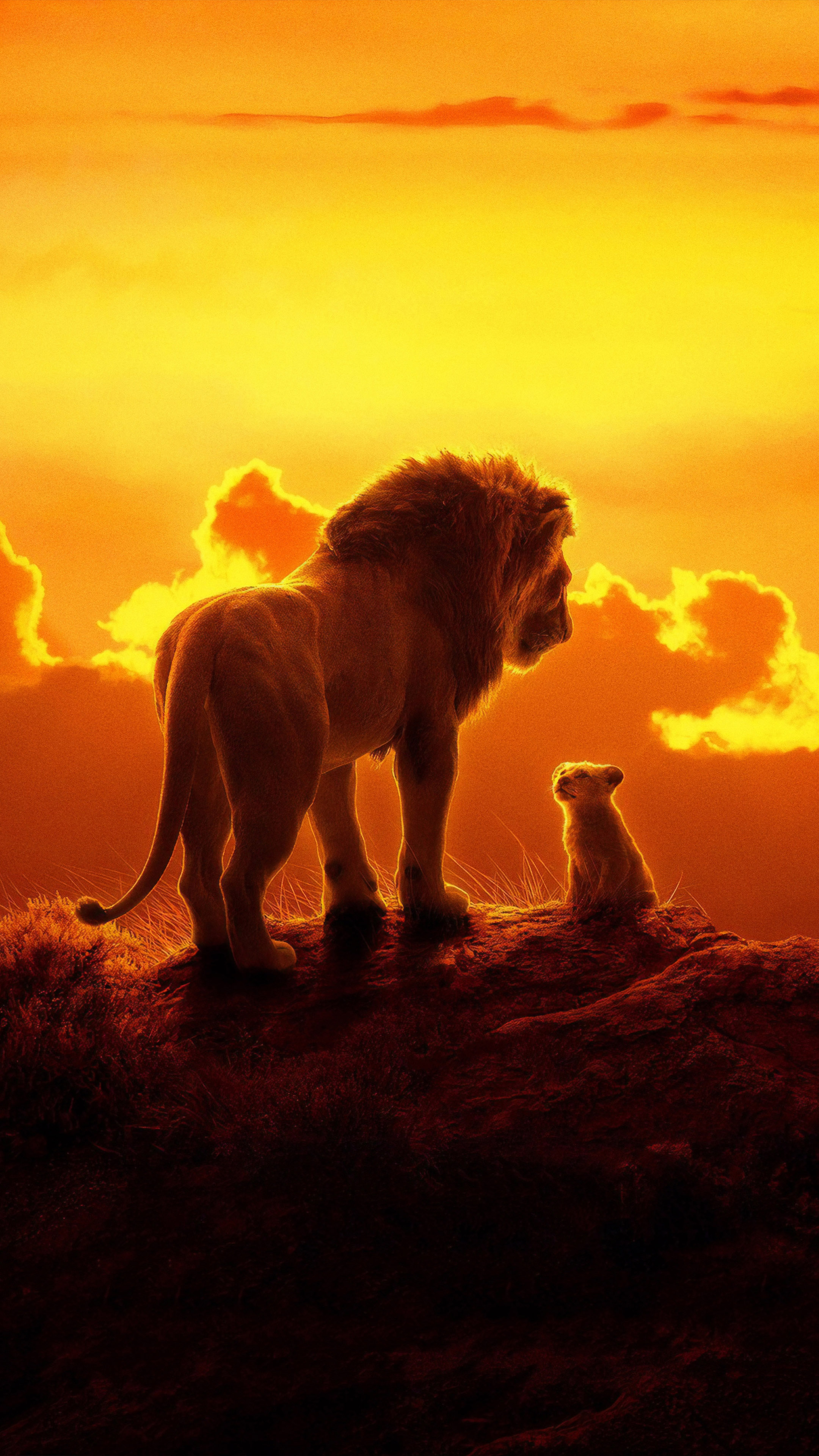 The Lion King Animation 2019 Free 4K Ultra HD Mobile Wallpaper