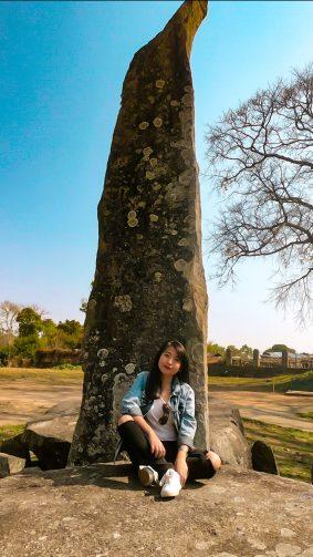 Cute Girl Photography Nartiang Monoliths Garden 4K Ultra HD Mobile Wallpaper