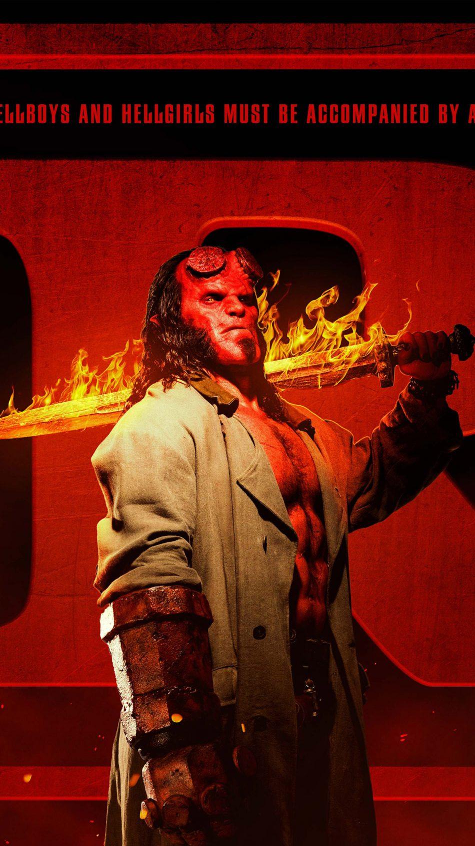 David Harbour As Hellboy 2019 4K Ultra HD Mobile Wallpaper