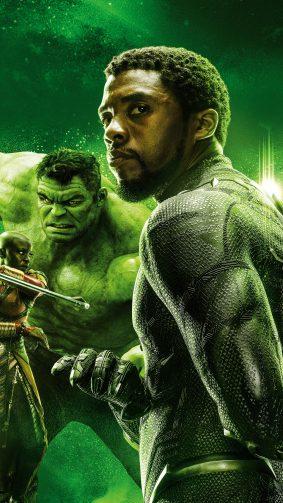 Hulk & Black Panther In Avengers Endgame 4K Ultra HD Mobile Wallpaper