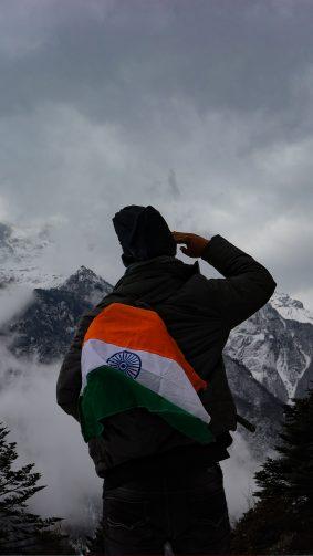 Indian Flag Salute Traveler Photography 4K Ultra HD Mobile Wallpaper