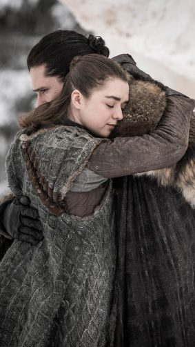 Jon Snow & Arya Stark In Game of Thrones S8 4K Ultra HD Mobile Wallpaper