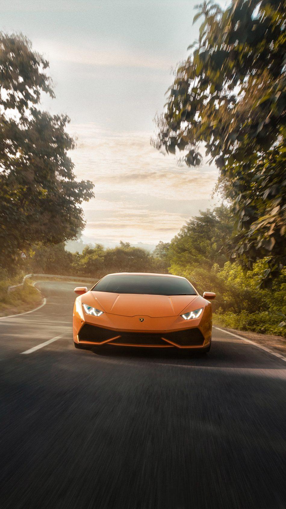 Lamborghini Huracan on Road 4K Ultra HD Mobile Wallpaper
