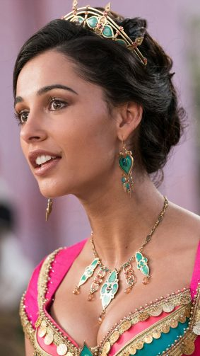 Naomi Scott As Princess Jasmine In Aladdin 2019 4K Ultra HD Mobile Wallpaper