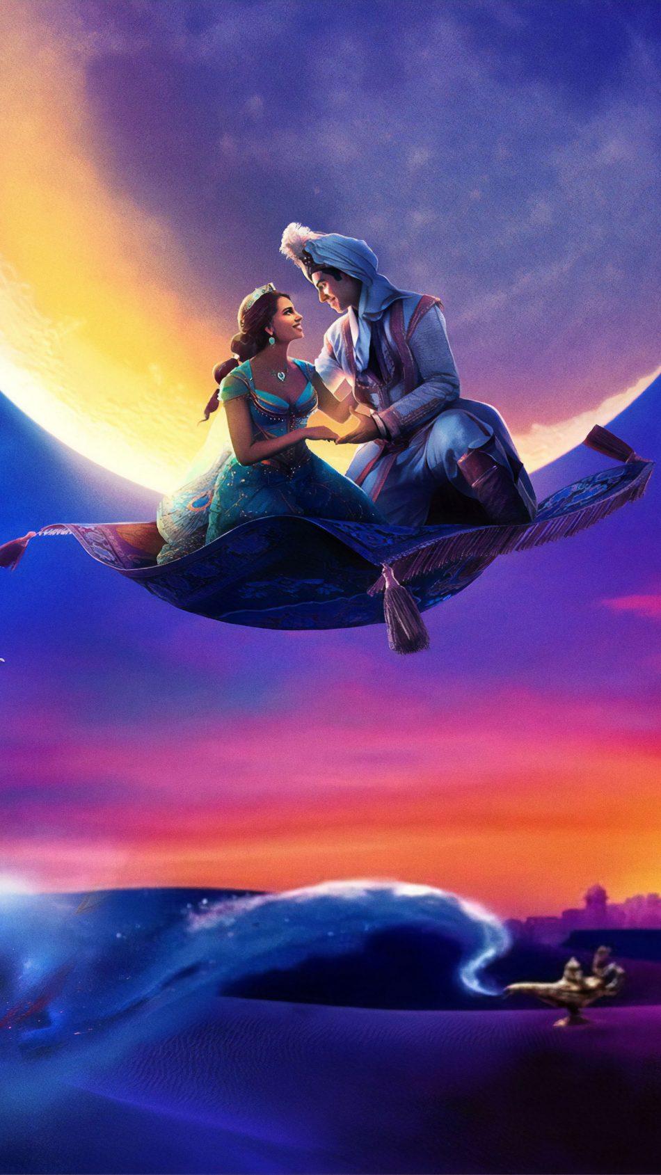 Naomi Scott & Mena Massoud In Aladdin 2019 4K Ultra HD Mobile Wallpaper
