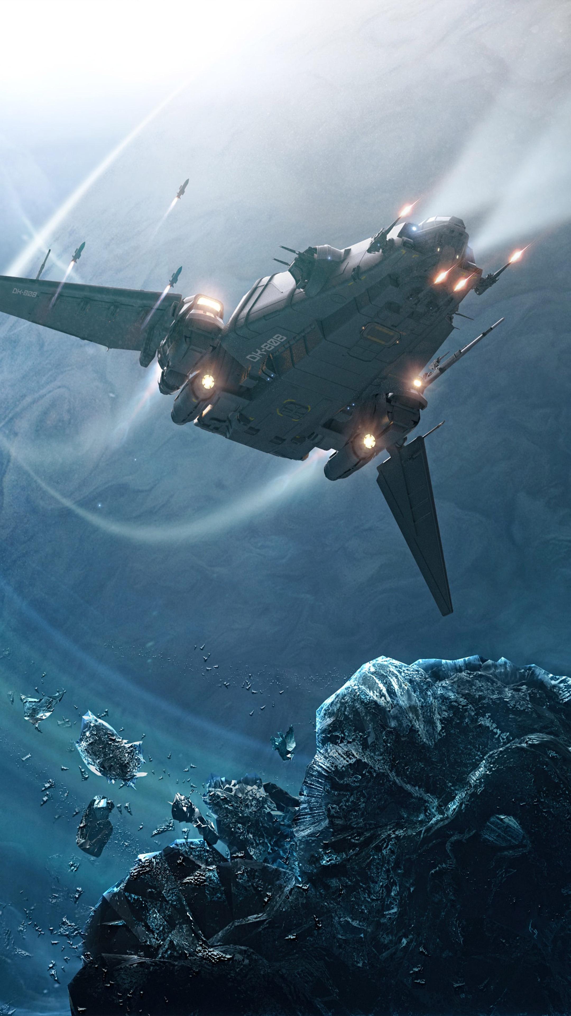 Spaceship Star Citizen Free 4K Ultra HD Mobile Wallpaper
