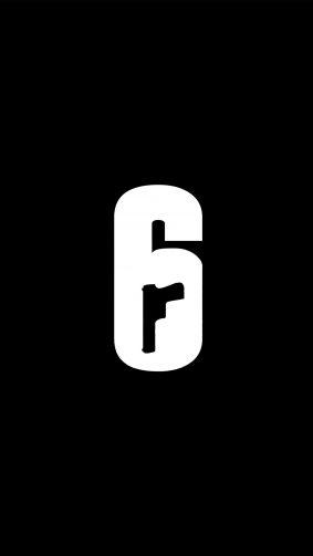 Tom Clancy's Rainbow Six Siege Minimal Logo 4K Ultra HD Mobile Wallpaper
