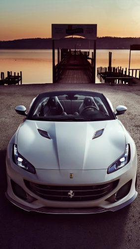 White Ferrari Portofino 4K Ultra HD Mobile Wallpaper