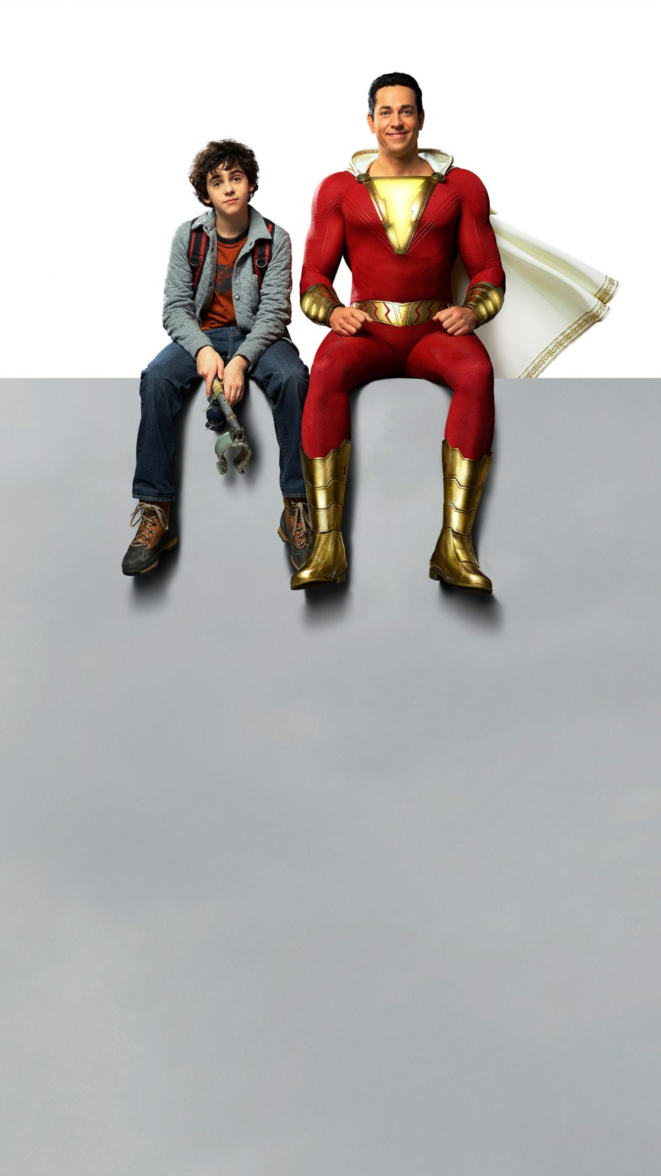 Zachary Levi & Asher Angel In Shazam! 4K Ultra HD Mobile Wallpaper