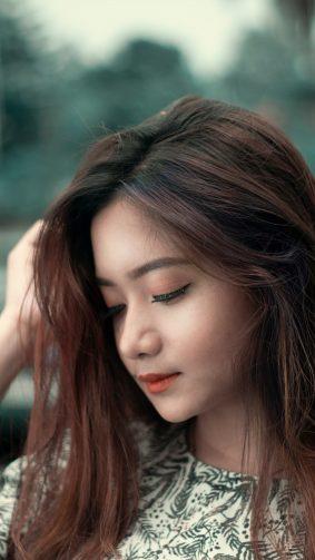 Beautiful Asian Girl Portrait Photography 4K Ultra HD Mobile Wallpaper