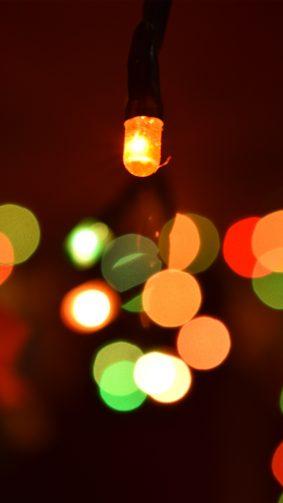 Colorful Festive Lights Bokeh 4K Ultra HD Mobile Wallpaper