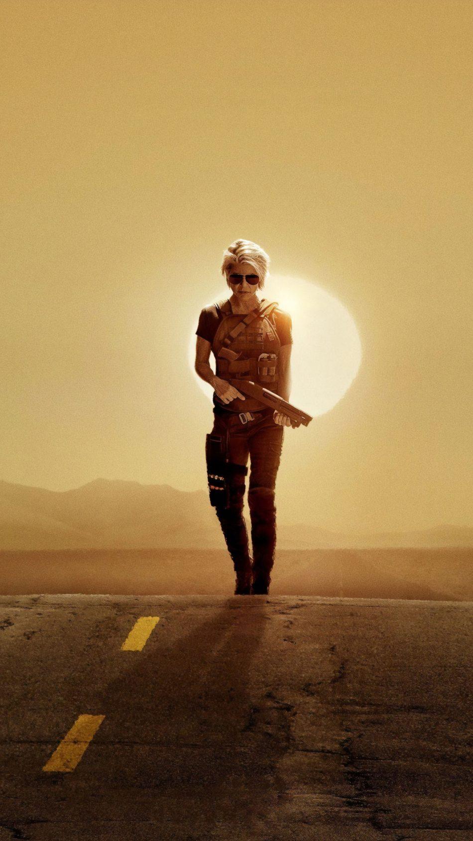 Linda Hamilton In Terminator Dark Fate 2019 4K Ultra HD Mobile Wallpaper
