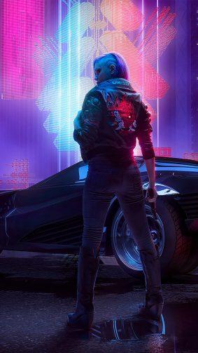 Futuristic Cyberpunk 2077 4K Ultra HD Mobile Wallpaper