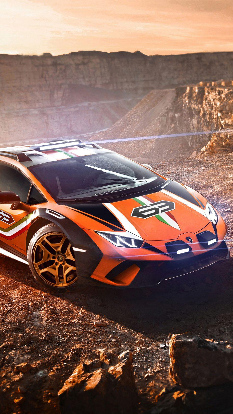 Lamborghini Huracan Sterrato Off Roading Supercar 4K Ultra HD Mobile Wallpaper