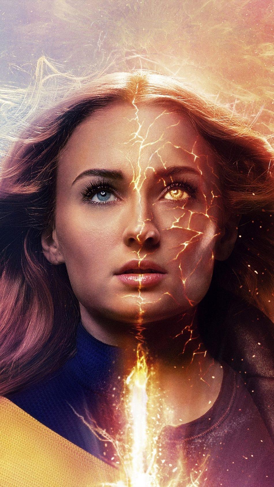 Sophie Turner As Jean Grey In X Men Dark Phoenix 4k Ultra Hd Mobile Wallpaper