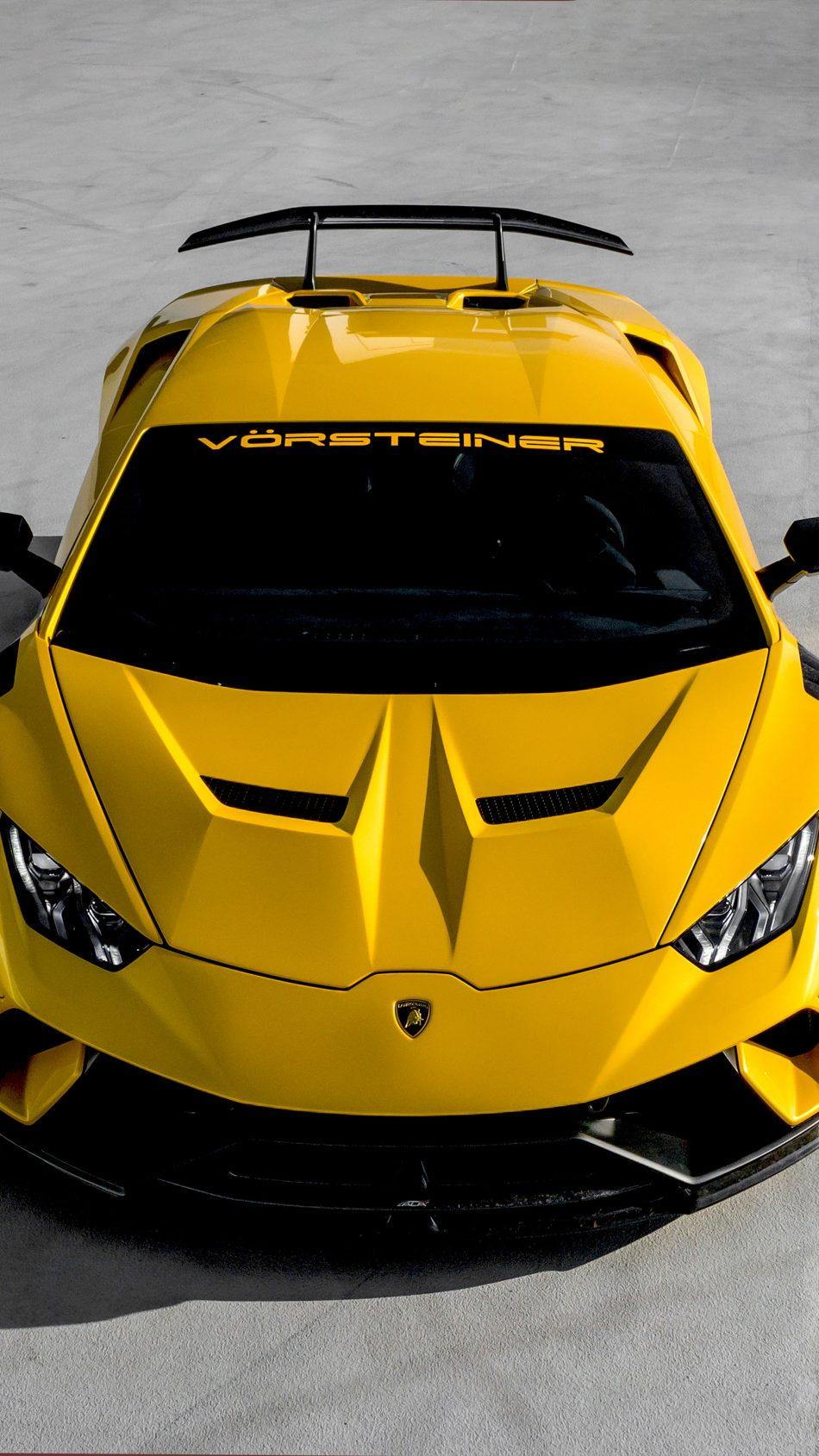 Yellow Lamborghini Huracan Performante 2019 4K Ultra HD Mobile Wallpaper