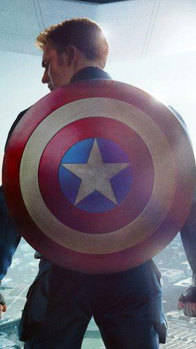 Chris Evans Captain America Shield 4K Ultra HD Mobile Wallpaper