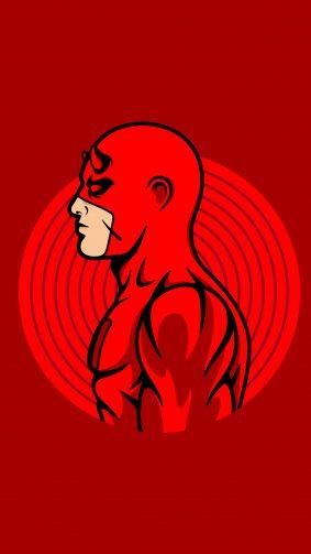 Dare Devil Minimal Red 4K Ultra HD Mobile Wallpaper