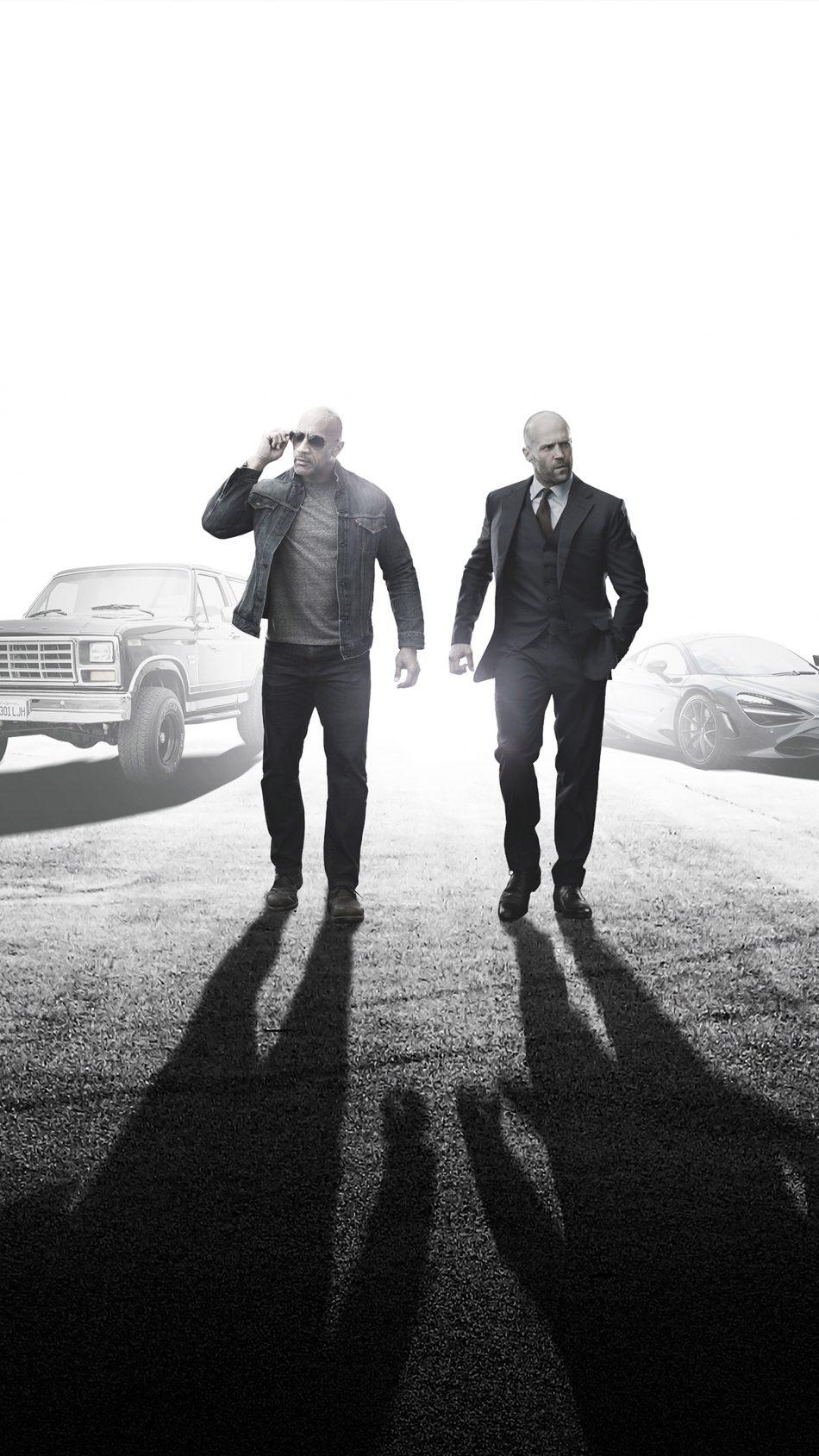 Dwayne johnson & Jason In Fast & Furious Presents - Hobbs & Shaw 4K Ultra HD Mobile Wallpaper