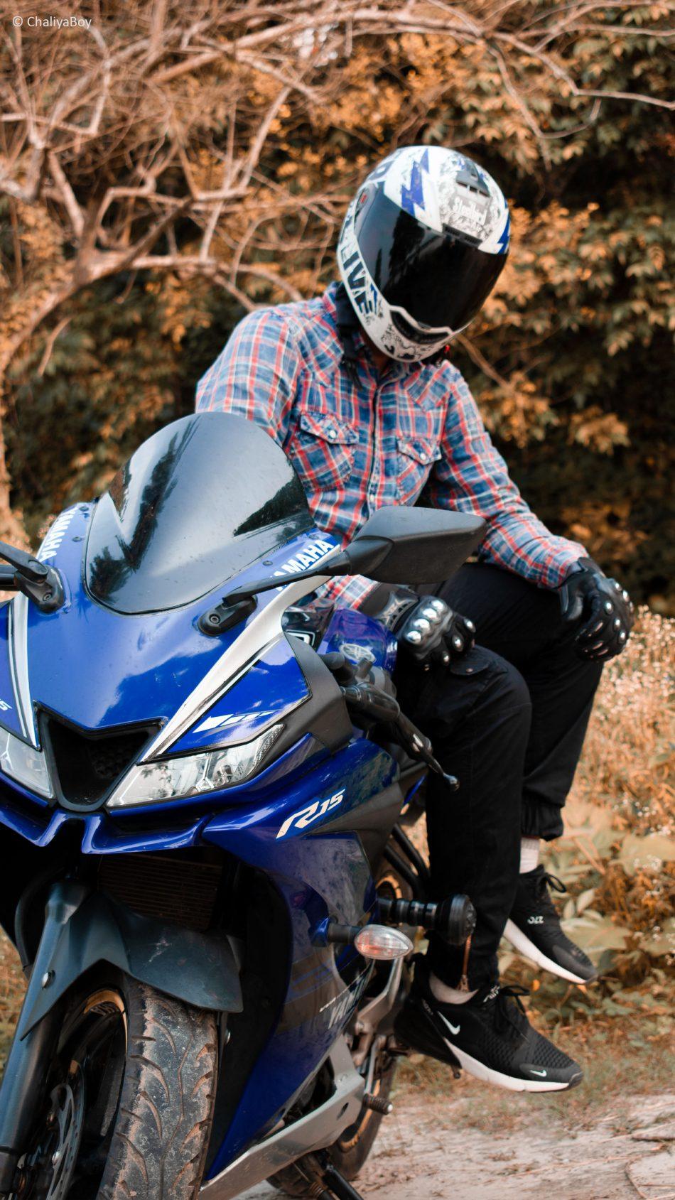 Franky Rider Yamaha R15 4K Ultra HD Mobile Wallpaper