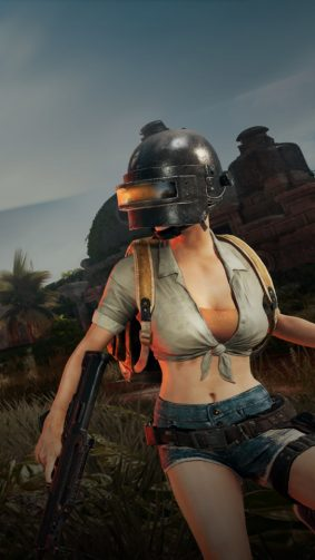 Helmet Girl PUBG Lite 4K Ultra HD Mobile Wallpaper