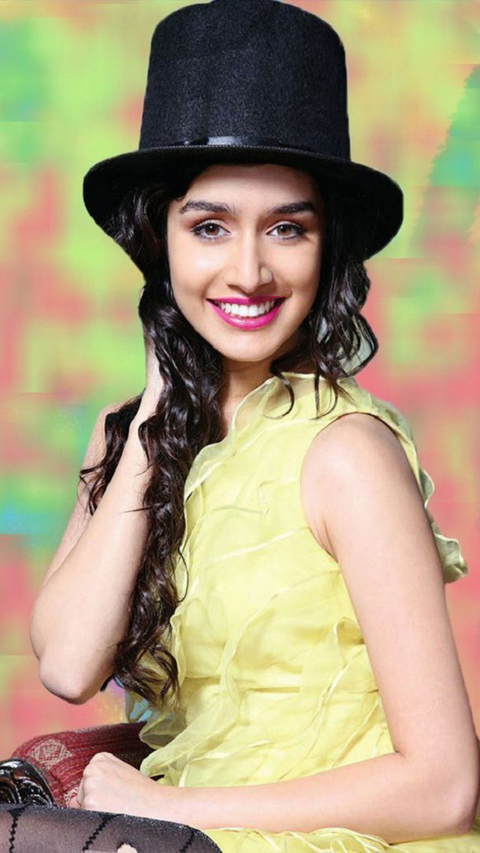 Shraddha Kapoor Wearing Black Hat 4K Ultra HD Mobile Wallpaper